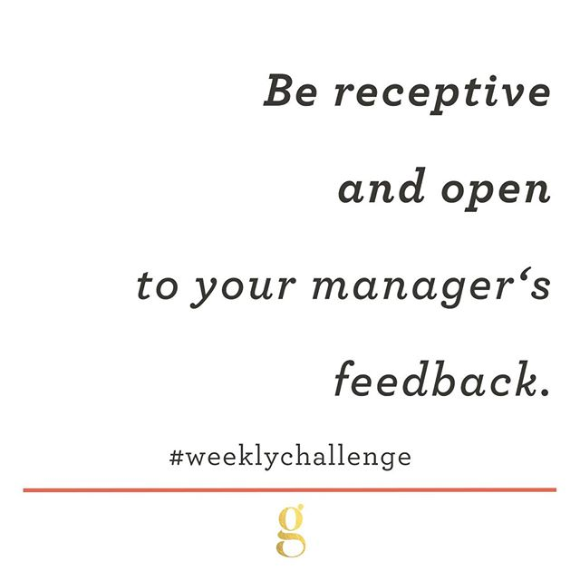 For our final #WeeklyChallenge in the managing up series: being receptive and open. If you want your relationship with your manager to improve, you have to work on your own willingness to receive constructive feedback.