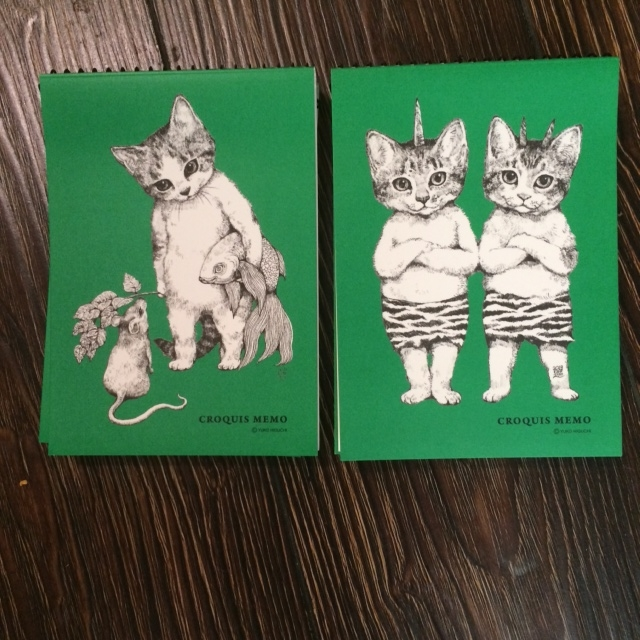 green memo books.JPG