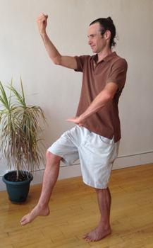Dan Doing a Tai Chi Posture Demonstrating Balance