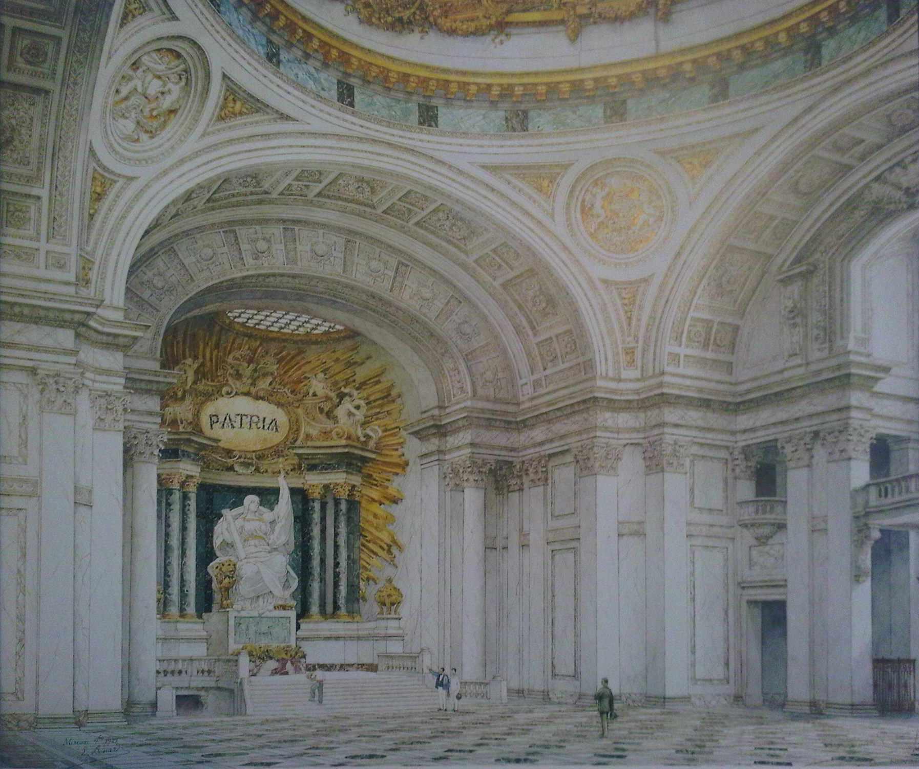 Proyecto de Bérnard para Altar de la Patria en Panteón de los Héroes (1923)-escaneado del libro .jpg