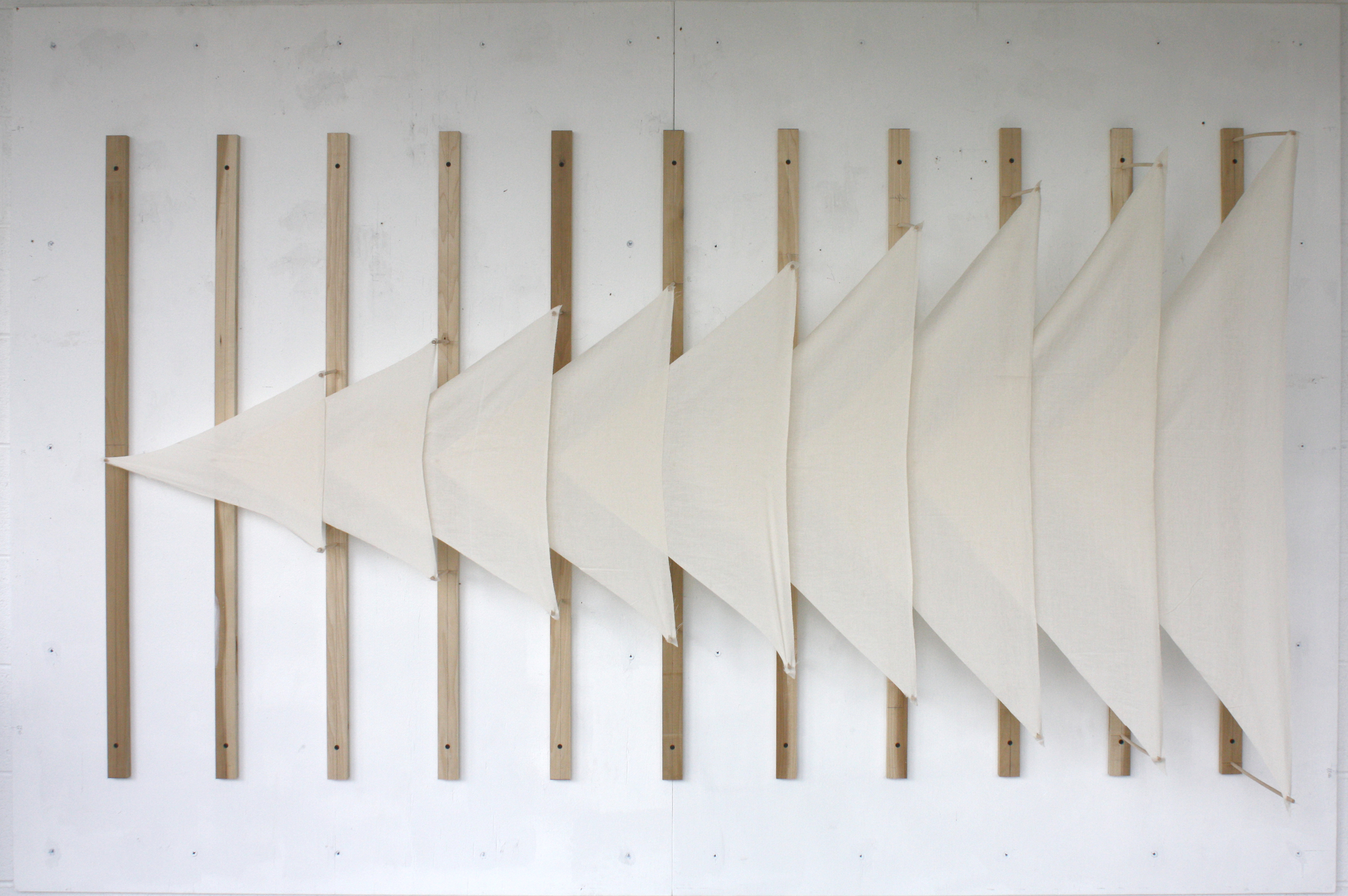 Tension  Muslin and Wood  2014