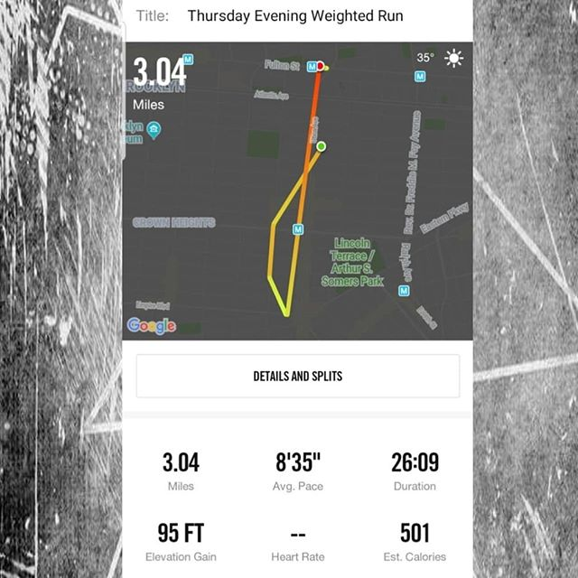 I dunno how I shaved a minute off of my time after coming off of vacation but I'll take it!  #SummerIsComing  #run #mood #health #wellness #stressrelief #mentalhealth #mymoodivation #brooklyn #crownheights #thehills