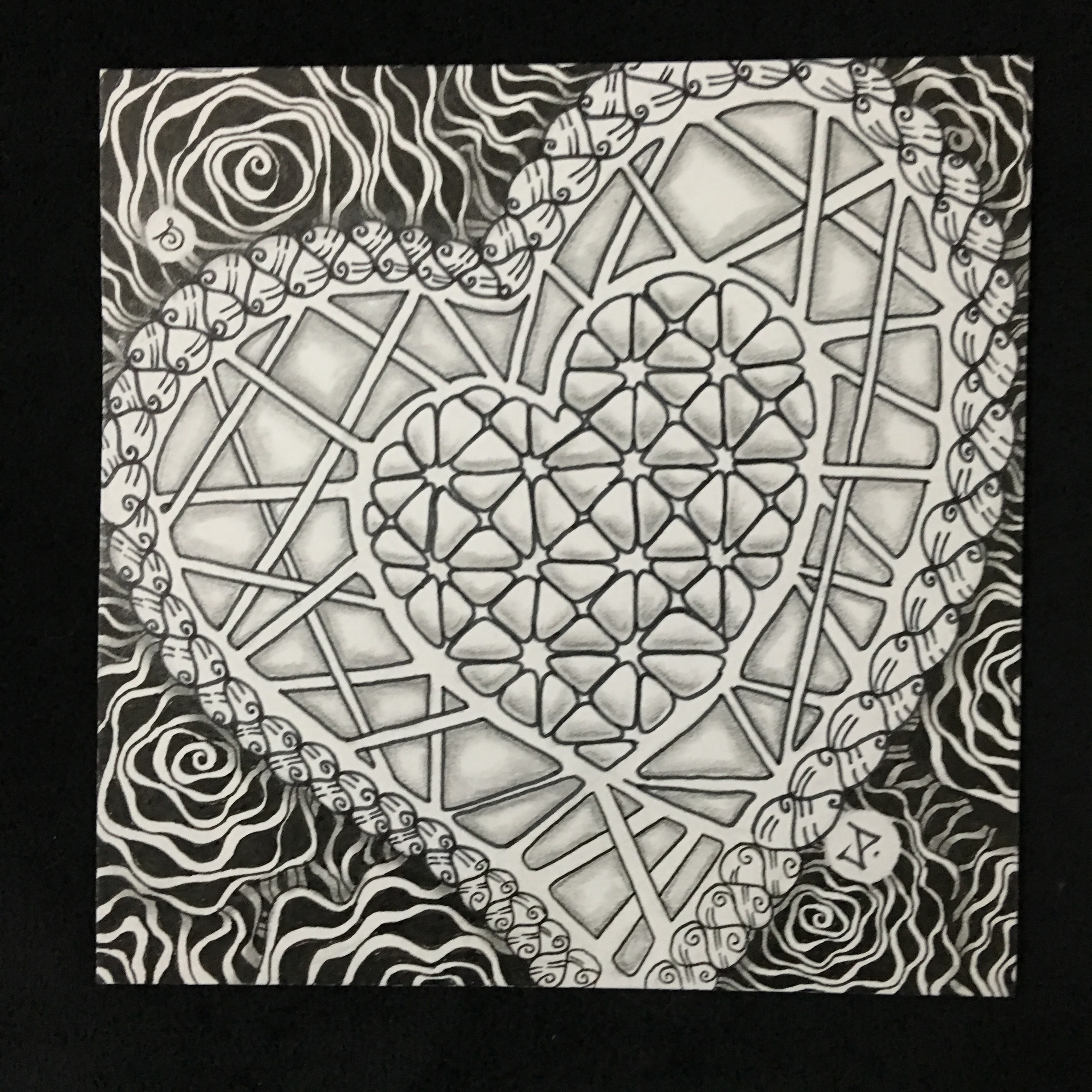 Travelling Tangles Tile- Janet Day and Stephanie Jennifer