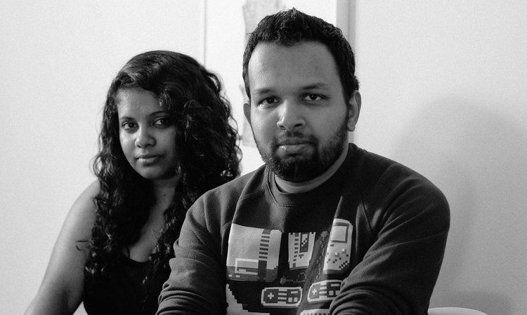 "Hari & Deepti, authors and illustrators of ""The Seekers"""