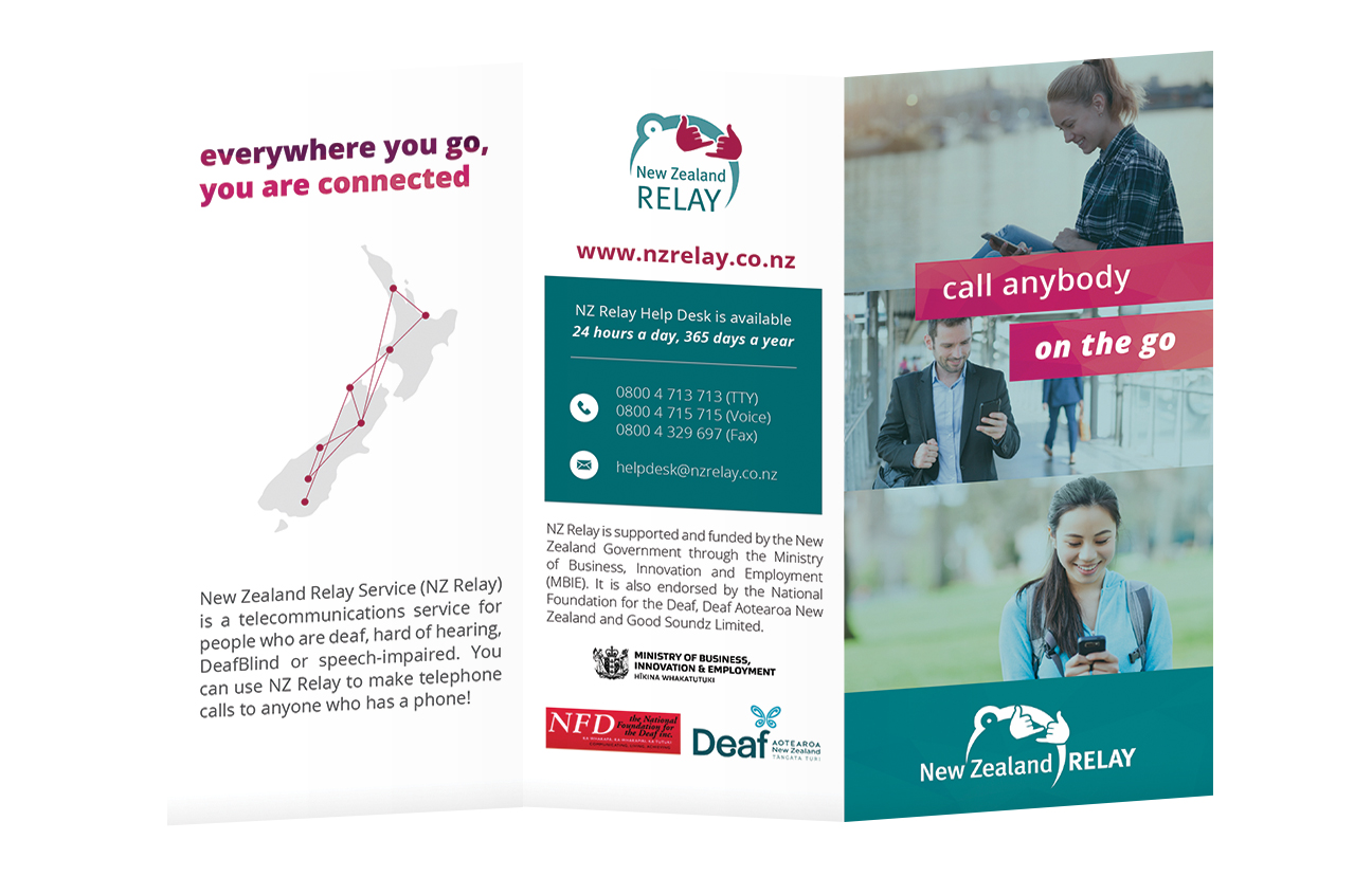 Design Option 3 for Front Cover of NZ Relay Brochure
