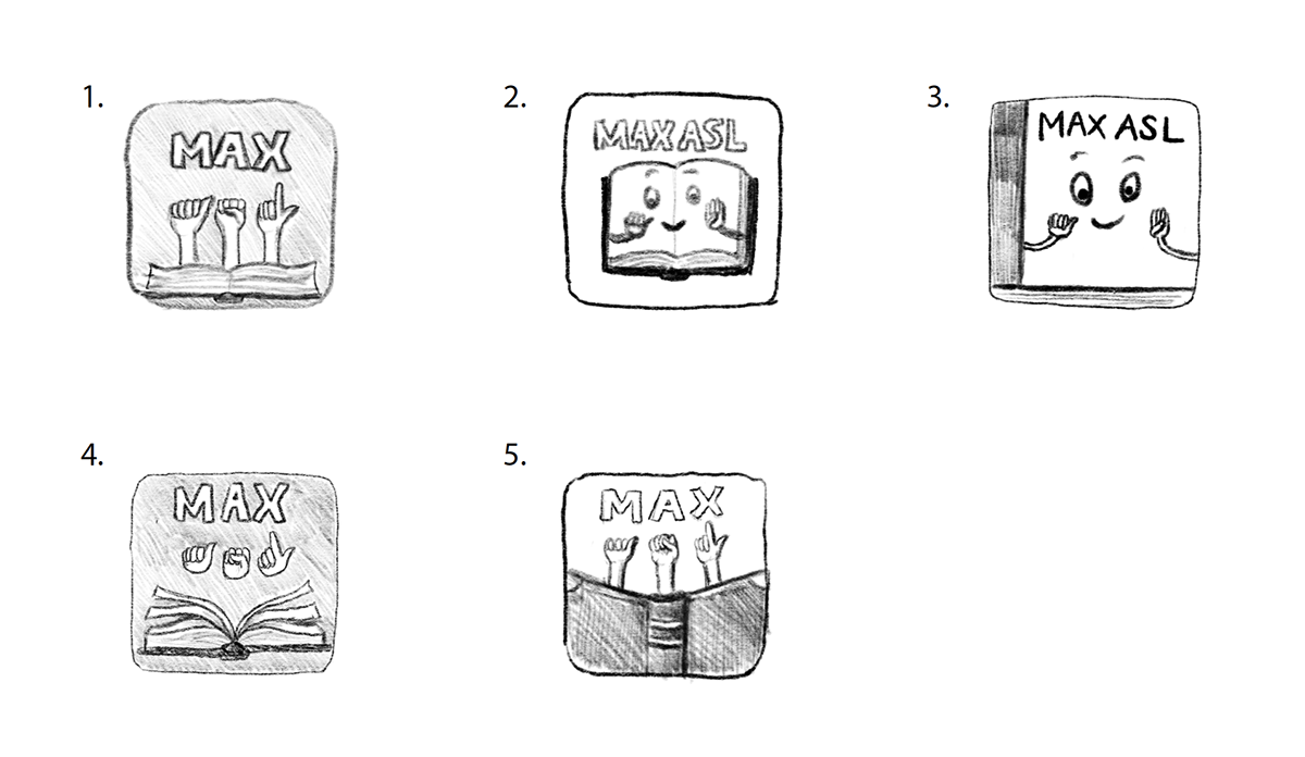 Original sketches for MaxASL app design
