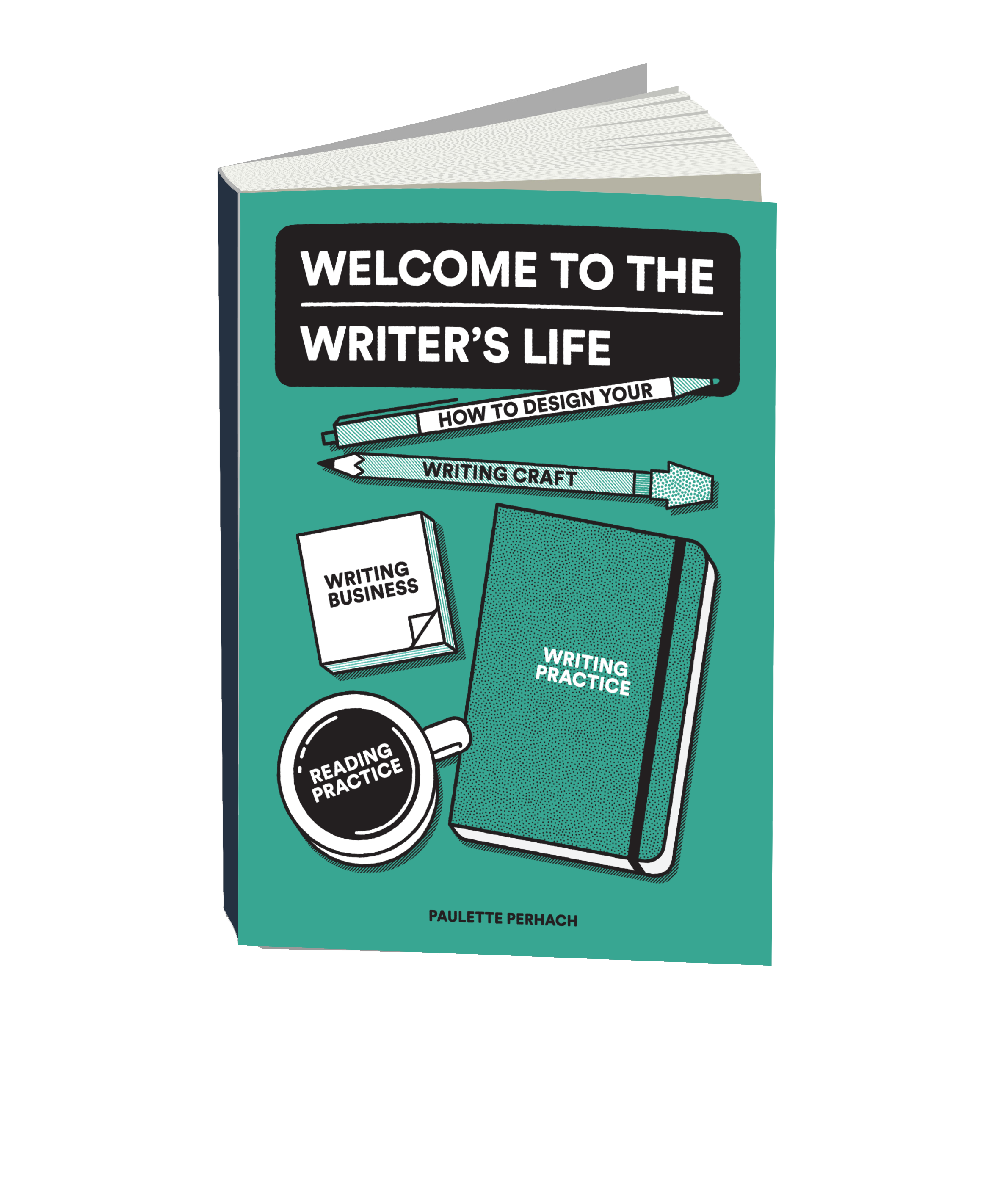 Welcome to the Writer's Life 3D Render Transparant Background.png