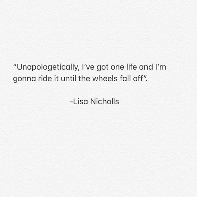 Some morning inspiration from Lisa Nicholls. Loved the reminder that conviction and comfort don't live in the same house. - -  #letsride #courage #inspiration#positivepsychology