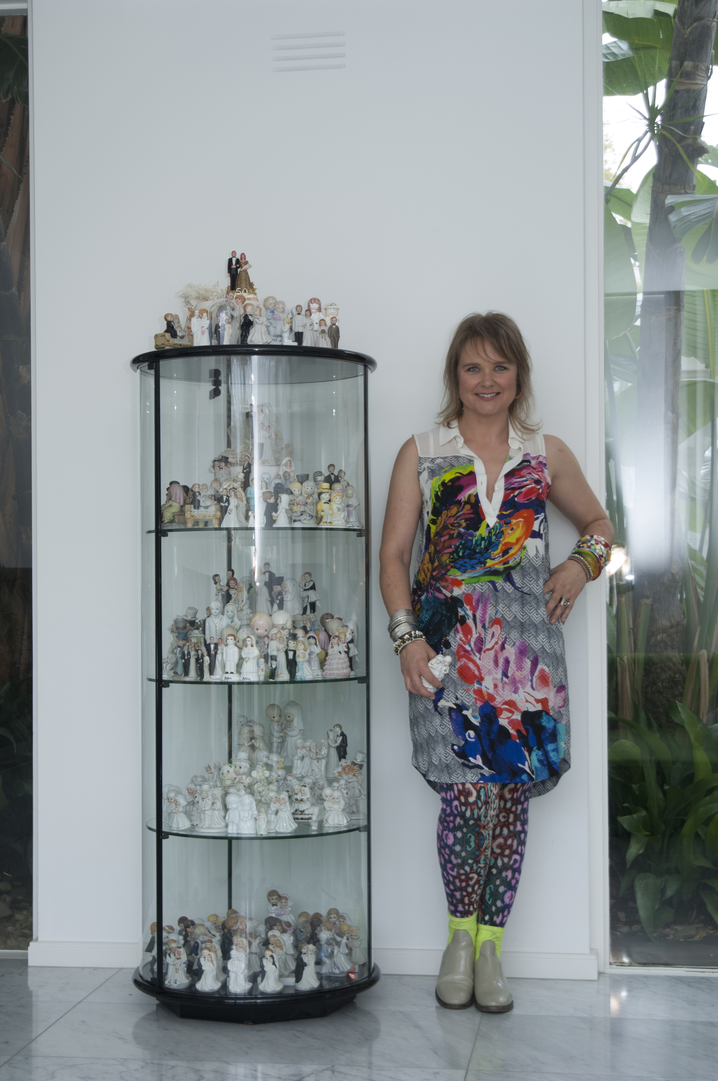 Suzie and her 1980's glass designer cabinet