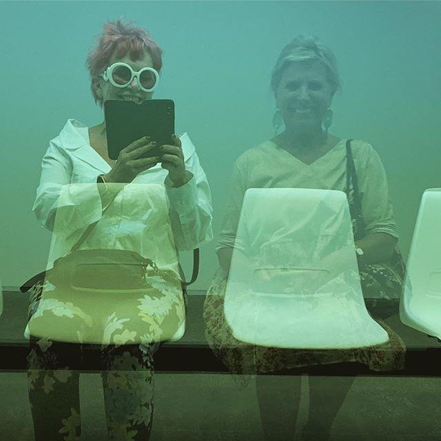 Communing with Susie @ #apt9 #joyceho #artatlas #goma