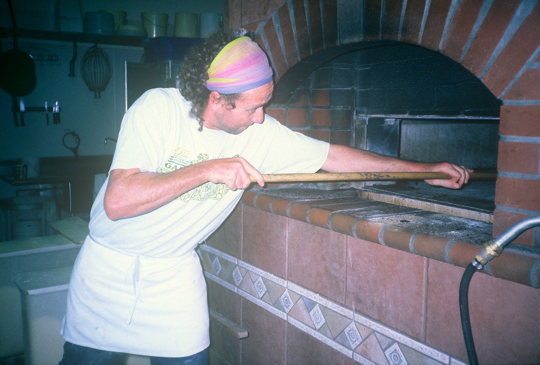 James baking at Tim Decker's Bakery - Bennett Valley Breads