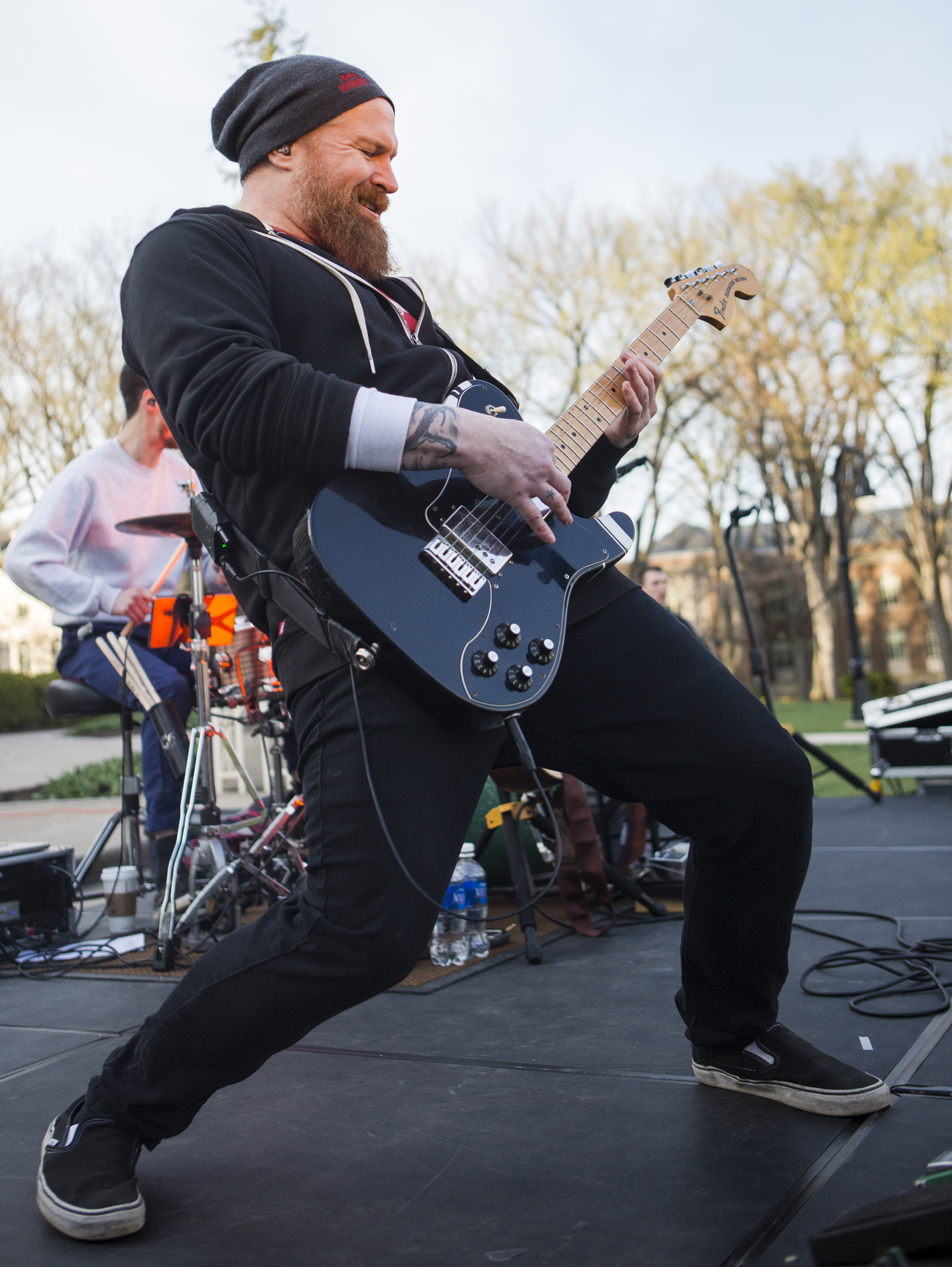 Guitarist Mike Lee performs with State College local band My Hero Zero on the lawn of Old Main as part of PSiheartU week on Wednesday, April 13, 2016.