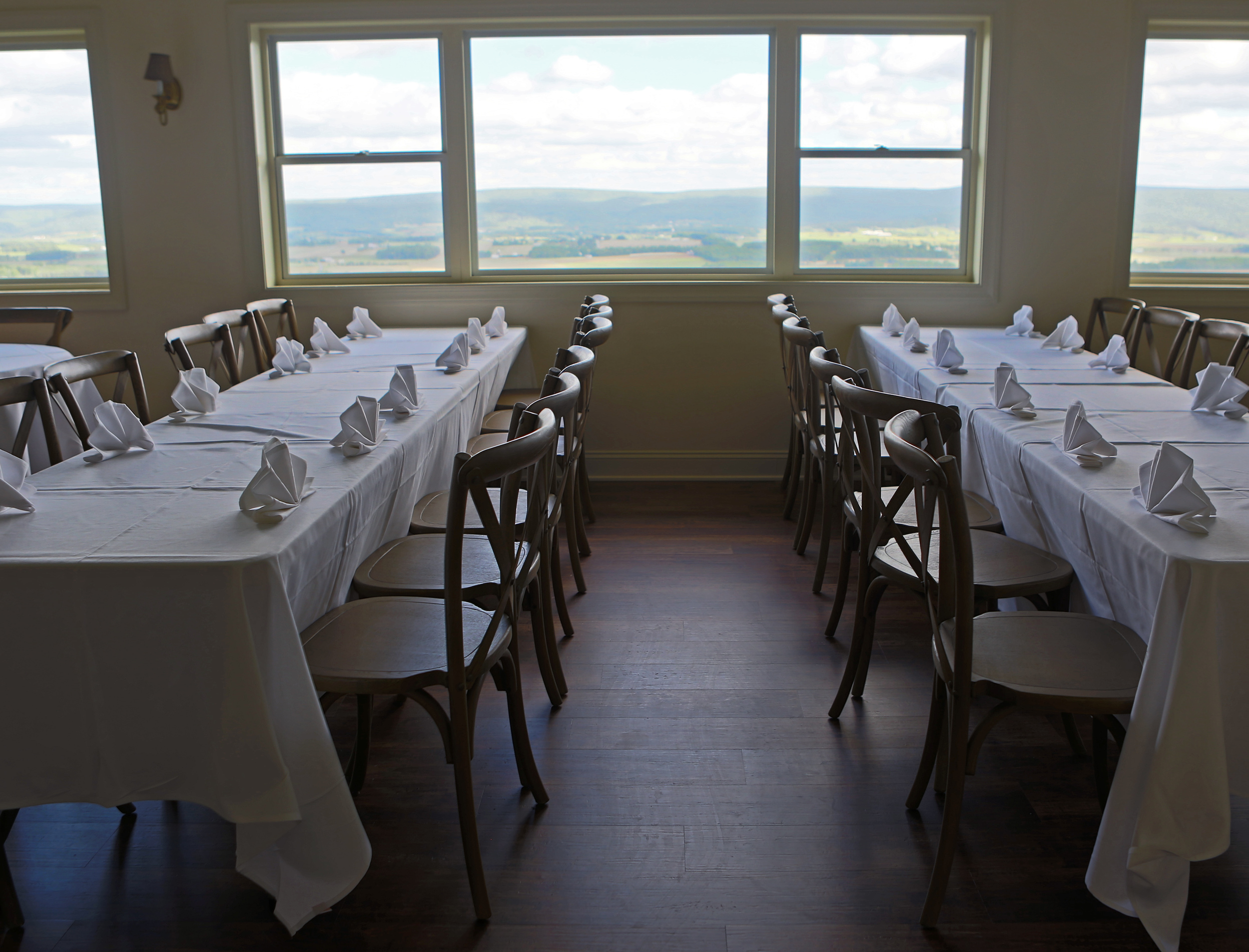 Harrison's Catering new event center Above the Valley' main dining room located on North Pennsylvania Avenue in Centre Hall overlooking Penns Valley.