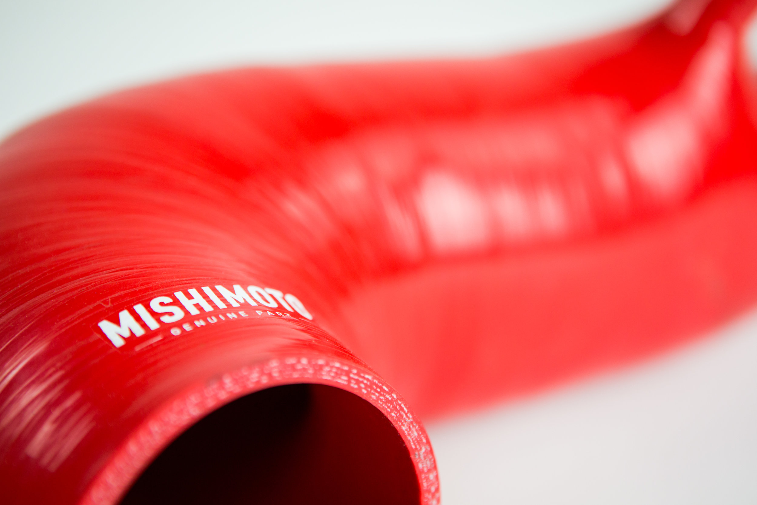One of the first production samples of the 2016+ Chevy Camaro 2.0T silicone induction hose. We're waiting on a second production sample to arrive at the R&D facility in New Castle, De. to continue testing. Click the photo to read my full Mishimoto Engineering blog post.