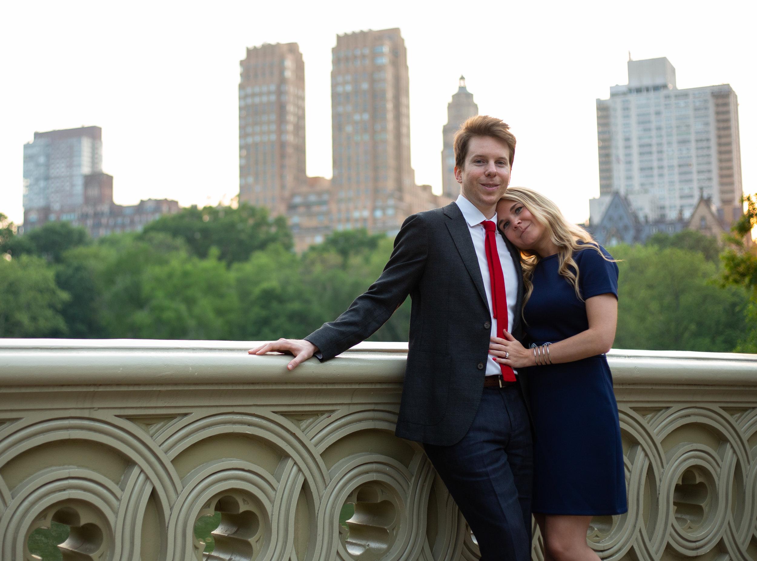 Gavin and Alex engagement shoot   Bow Bridge, Central Park   New York, New York   Canon 5DmkIII