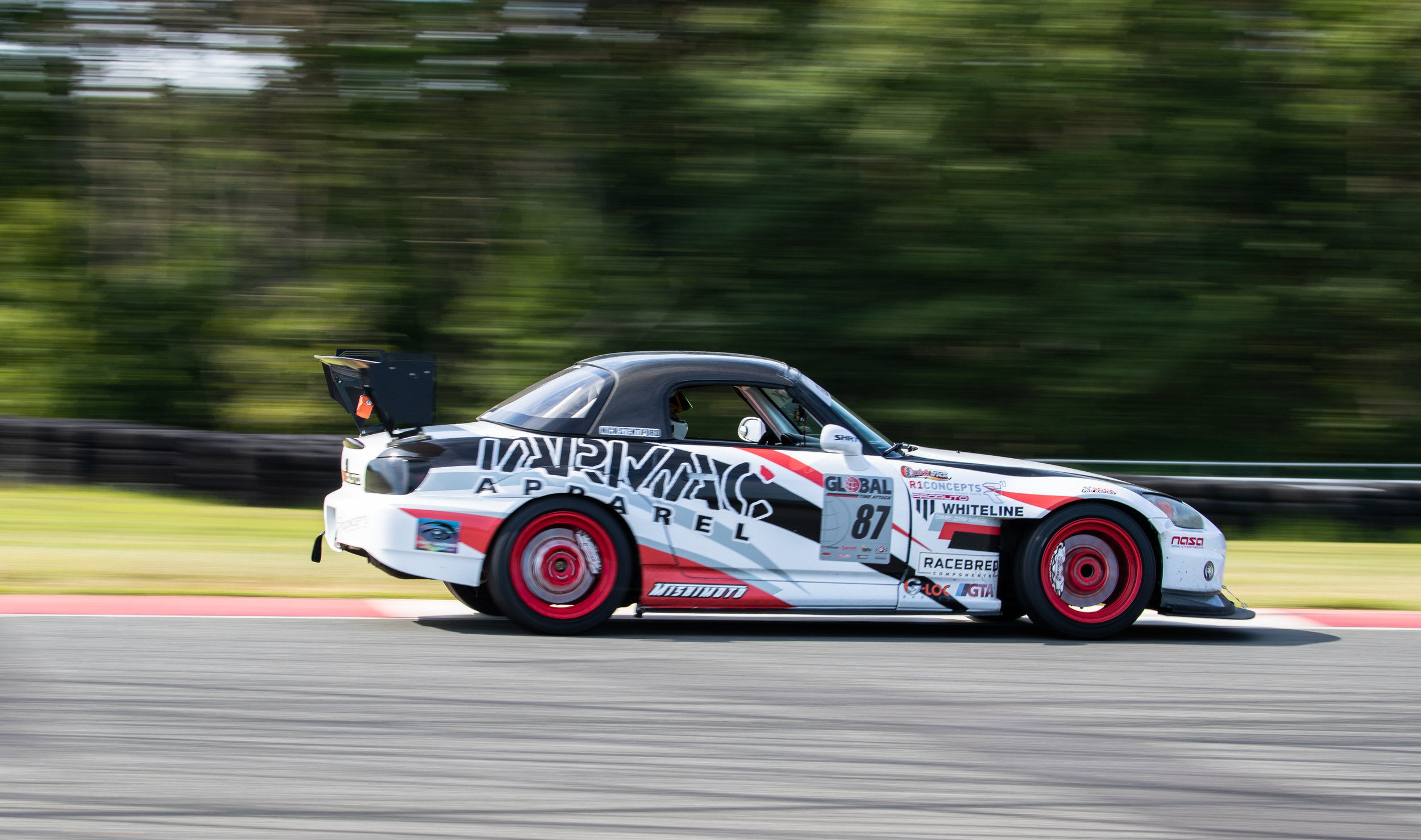Nick Stentiford piloting his Honda S2000 around the Lightning Circuit. Stentiford drove his S2000 from Colorado to NJ in it's race ready state to participate in this year's GTA event.