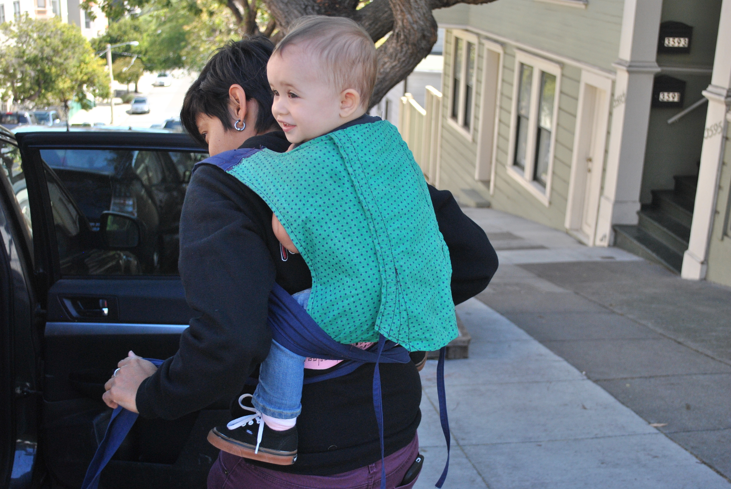 "This thing is awesome for everything. Hear yourself saying, ""It would be dumb to take a motherfucking stroller to ________""? Strap that baby to your back!"