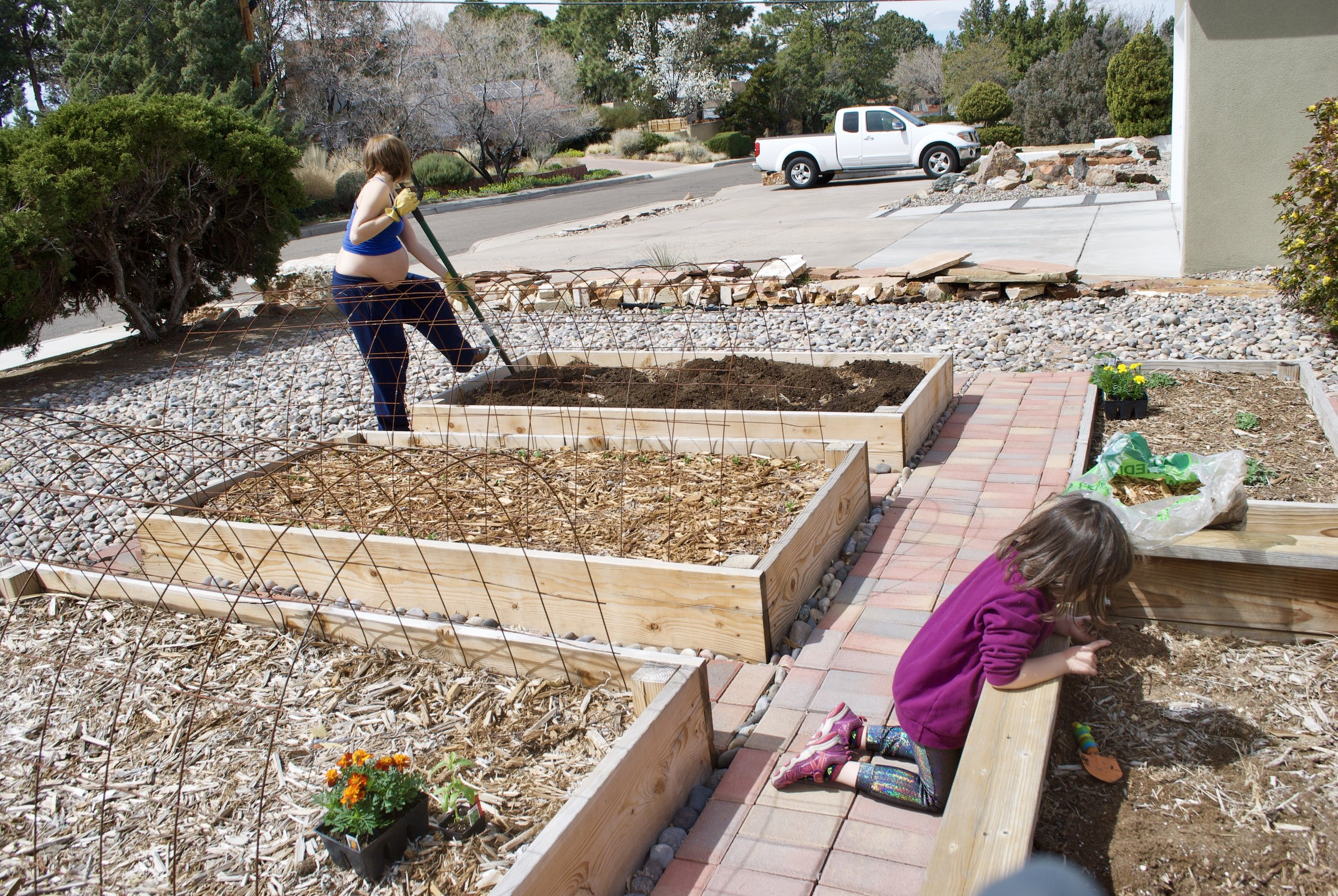 Labor can look like    this - <—That kid was born after gardening, too.