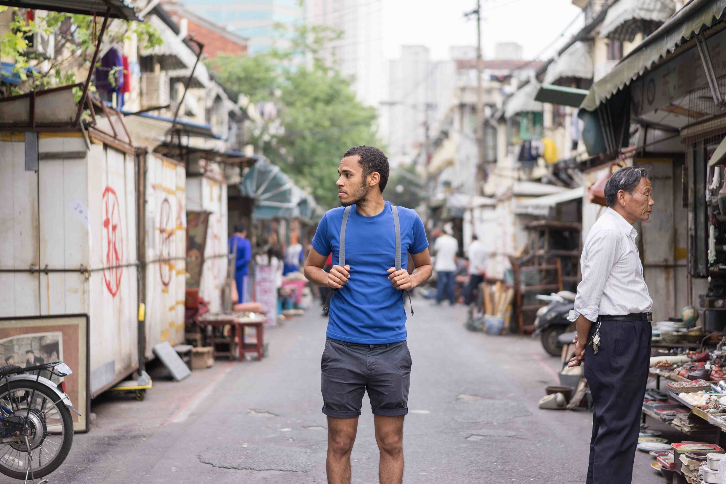 Uniqlo   T-shirt |   Jack & Jones   Shorts |   Fjallraven   Backpack