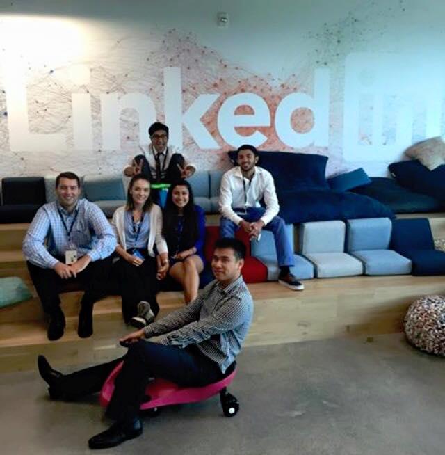 Team AKPsi at Linkedin hackathon 2015