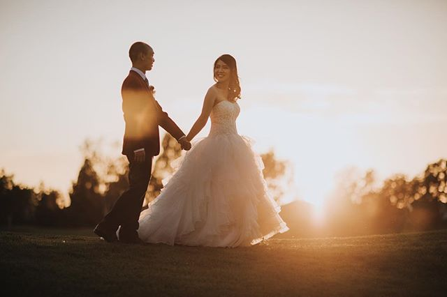 Congrats to Richard & Clarice!  Beautiful wedding last weekend, here's an epic shot during magic hour ✨