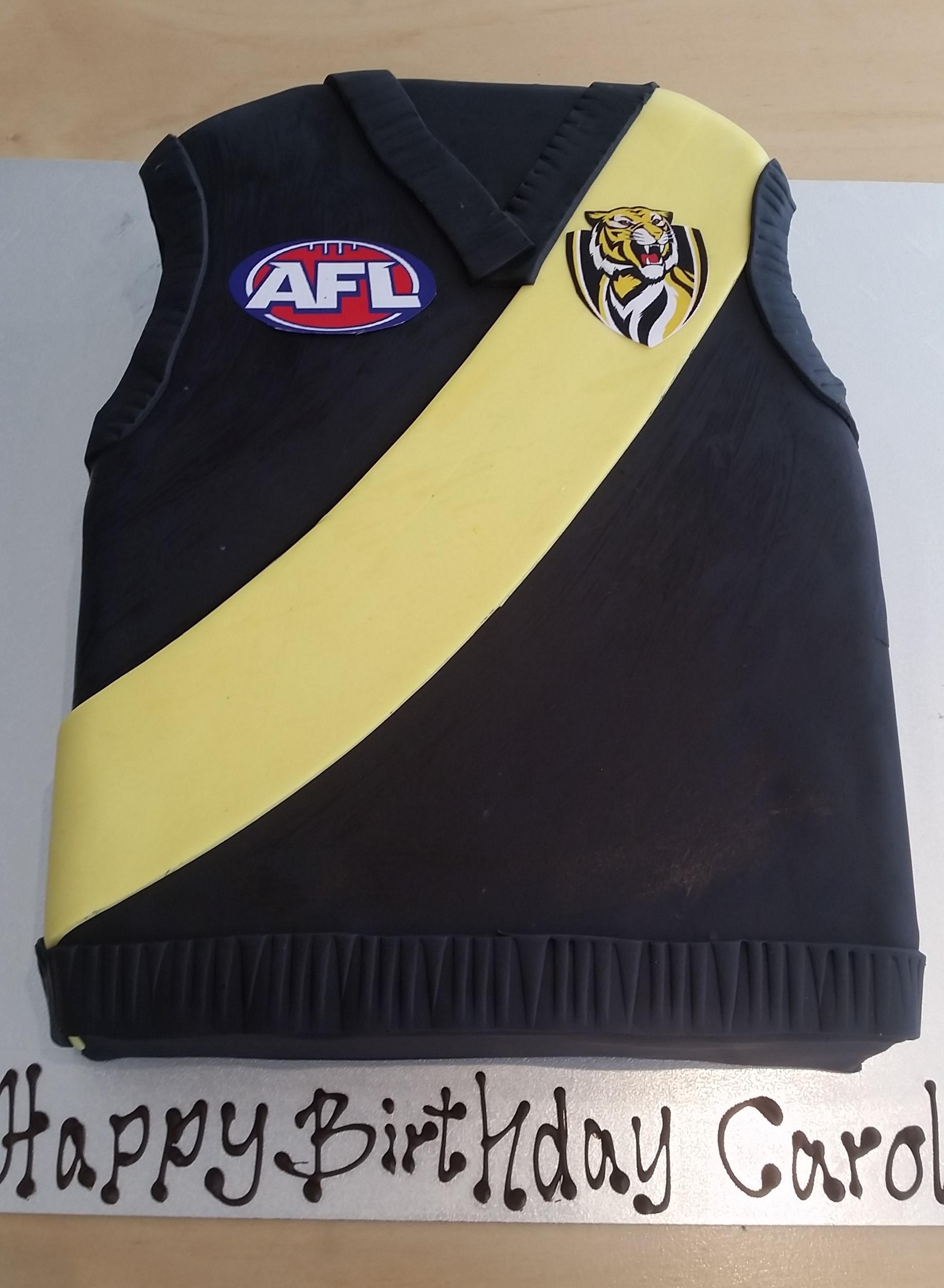 AFL Richmond Football Jersey Cake