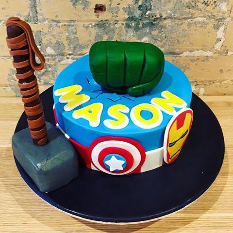 Avengers Marvel Cake