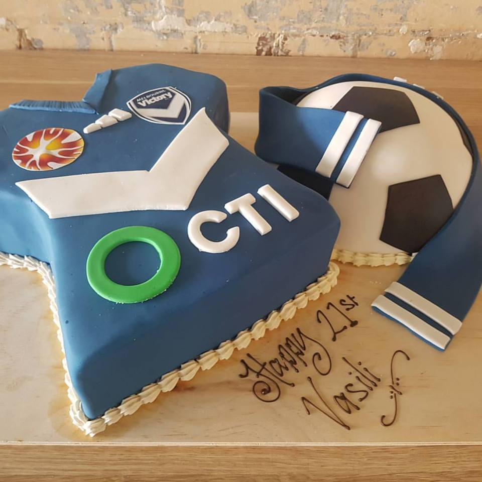 Soccer Cake - Melbourne Victory