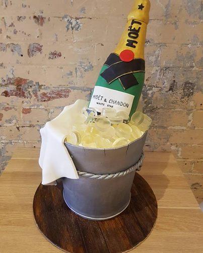 Bottle in Ice Cake