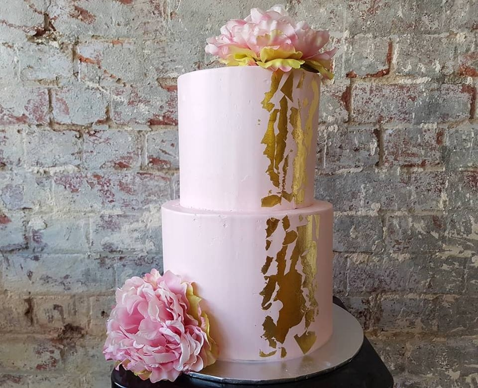 Buttercream with gold leaf