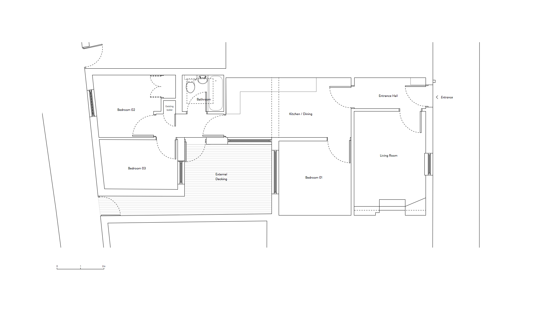 Before:  Ground floor layout.