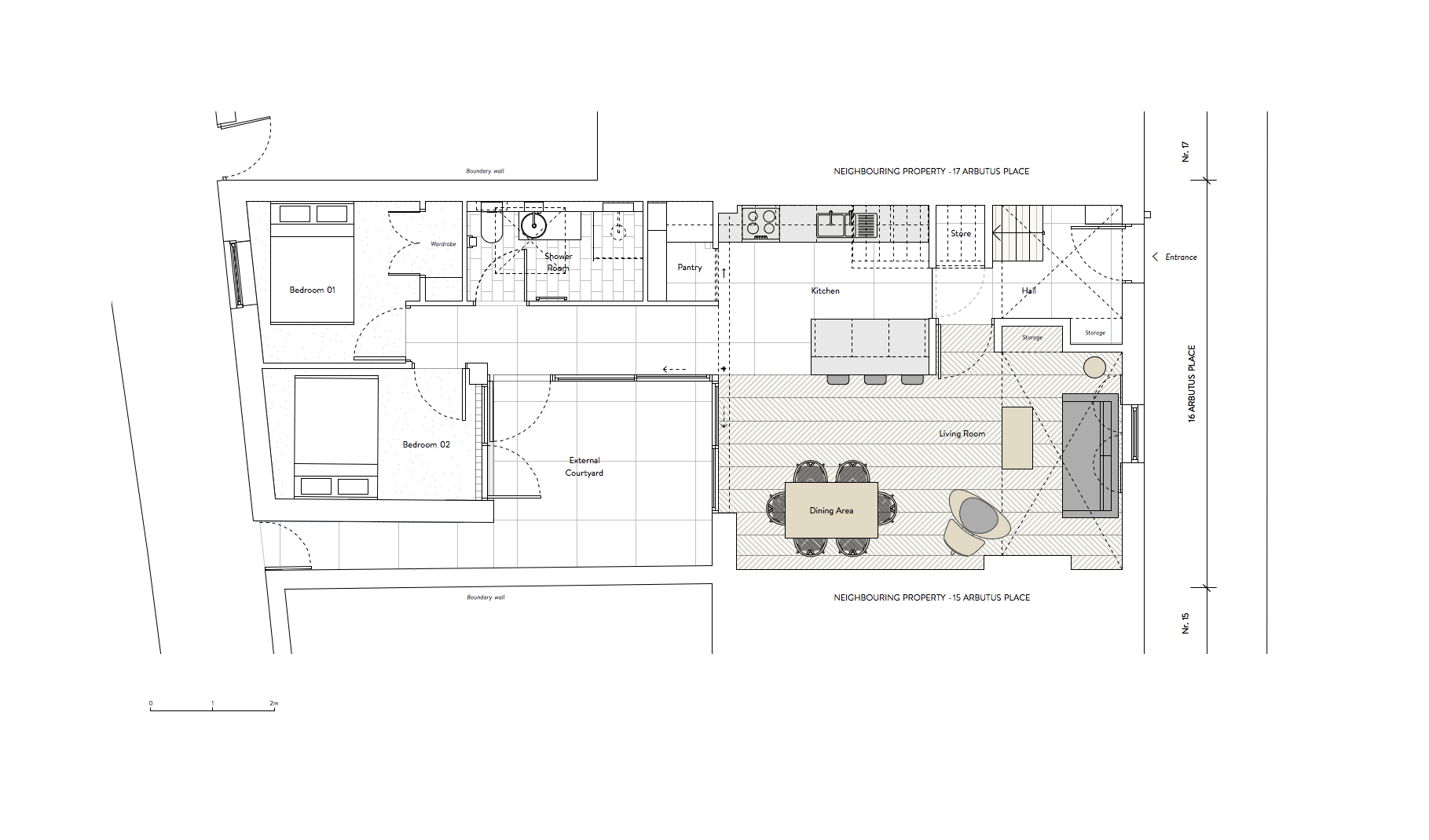 After:  New ground floor layout.