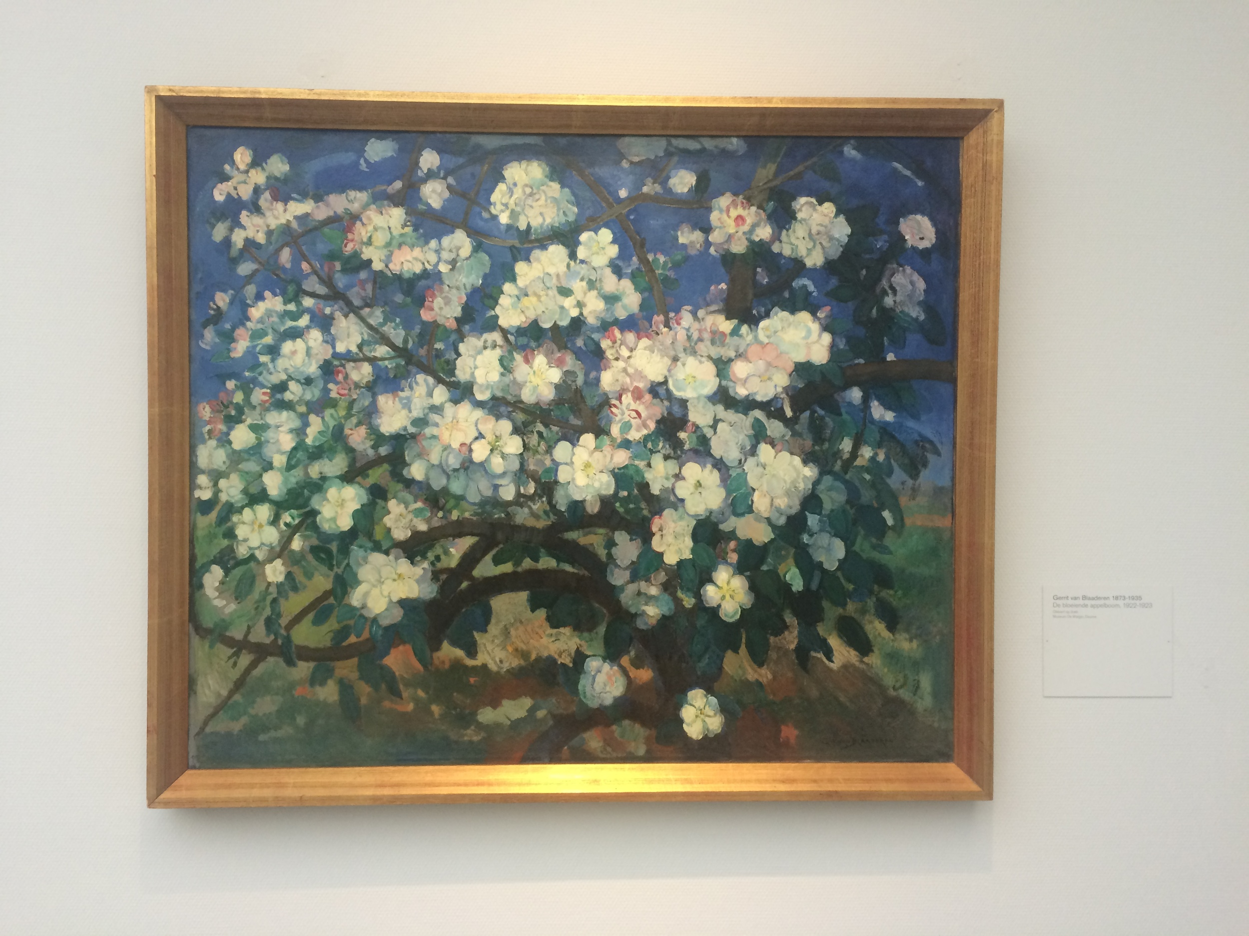 Mooie kleuren op dit schilderij van Gerrit van Blaaderen