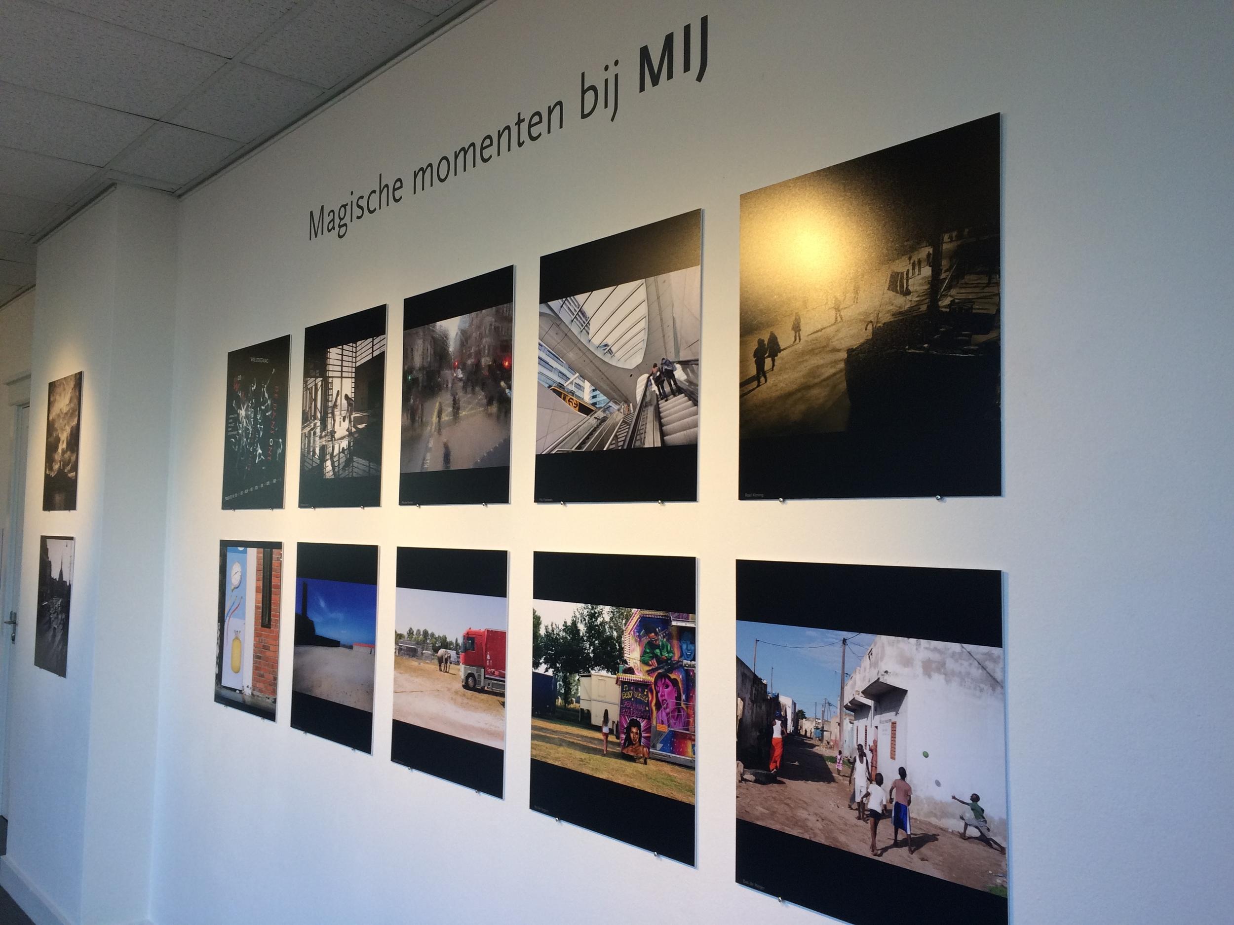 foto's in de tentoonstelling magische momenten