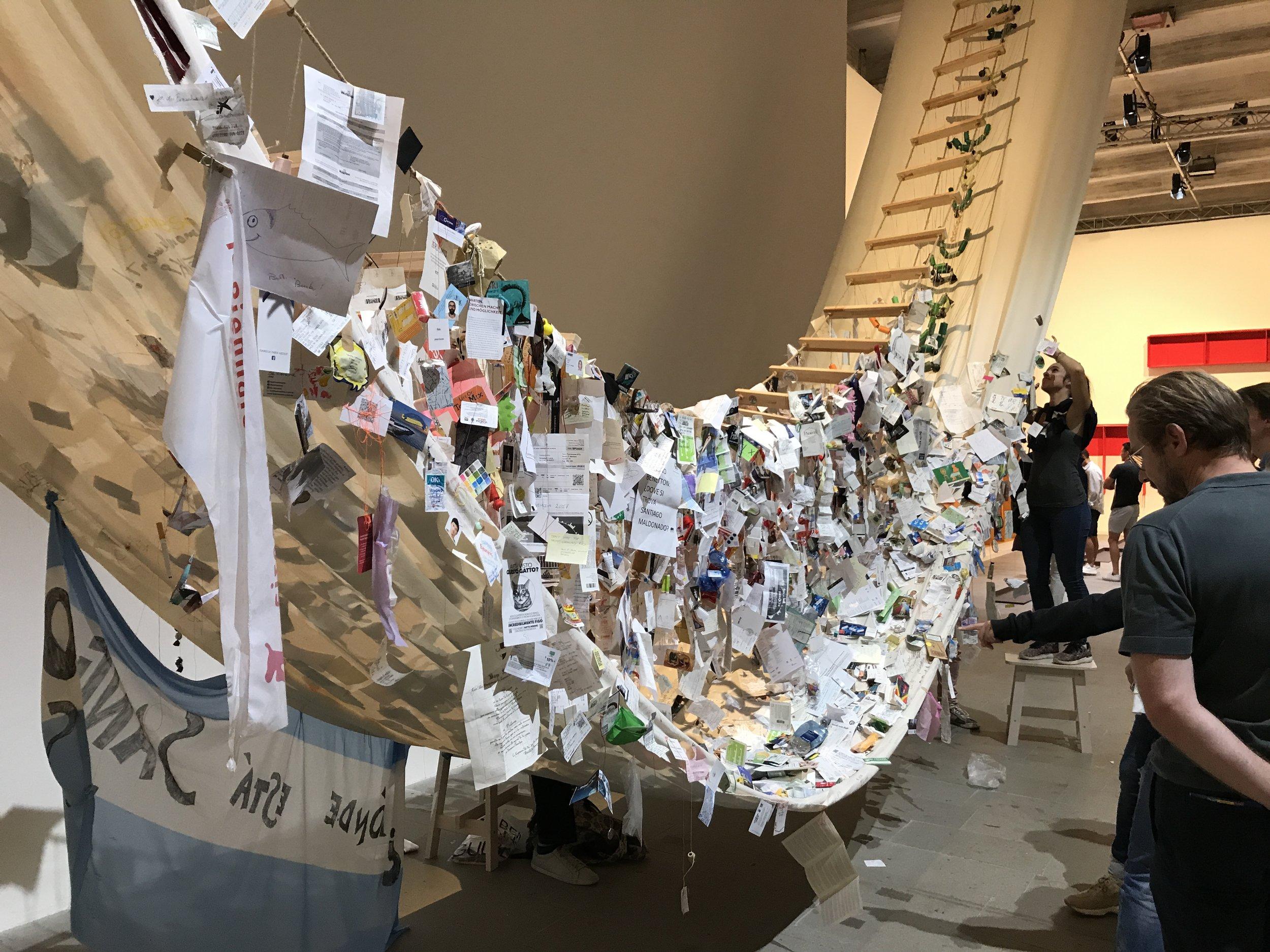 David Medalla, A Stitch in Time, Venetië september 2017