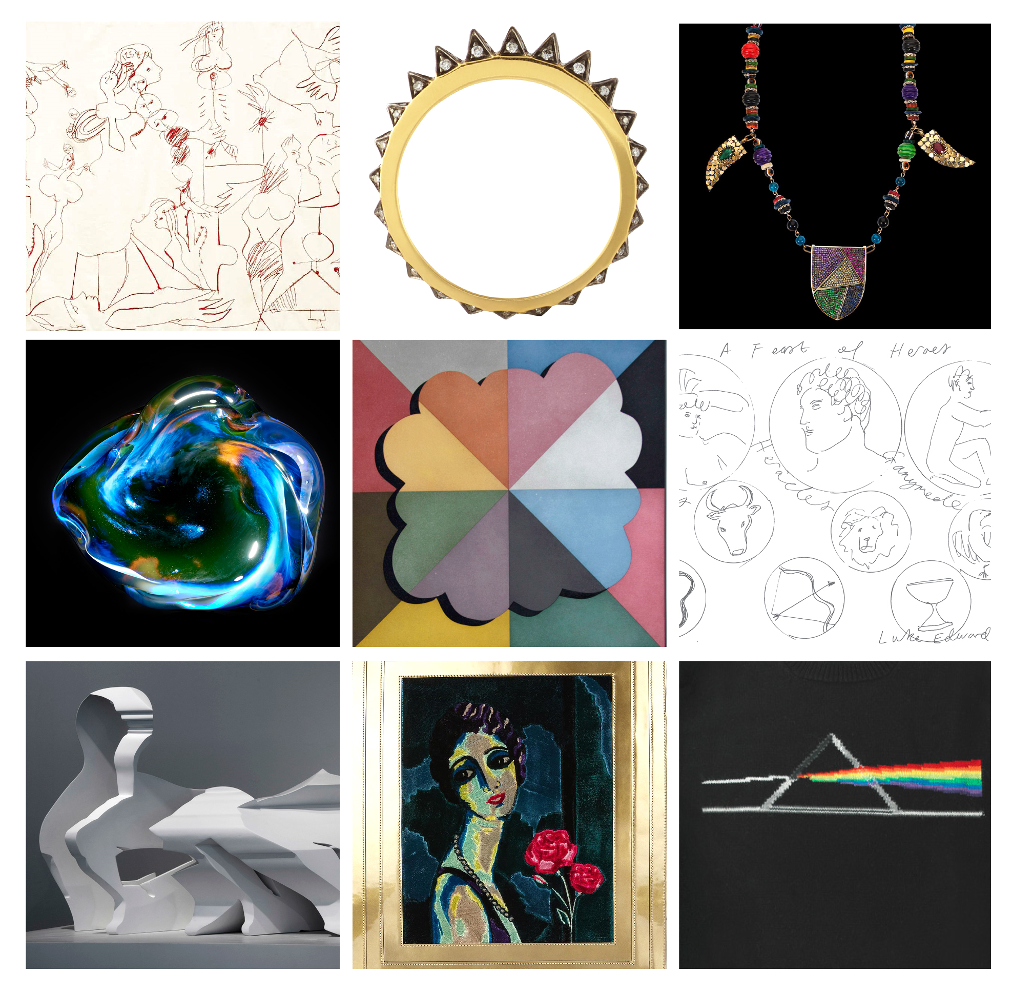 YOUNG BRIGHT THINGS Curated by Gianluca Longo April 20th - May 12th  Flavie Audi, Tancredi di Carcaci, Noor Fares, Luke Edward Hall, Nick Hornby, Alexander Lewis, Annie Morris, Charlotte Olympia, Petra Palumbo with Rhys Coren, Jordana Yechiel