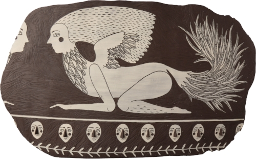 Lena Peters 'Fragment of Wall Mural showing Goddess as Owl'