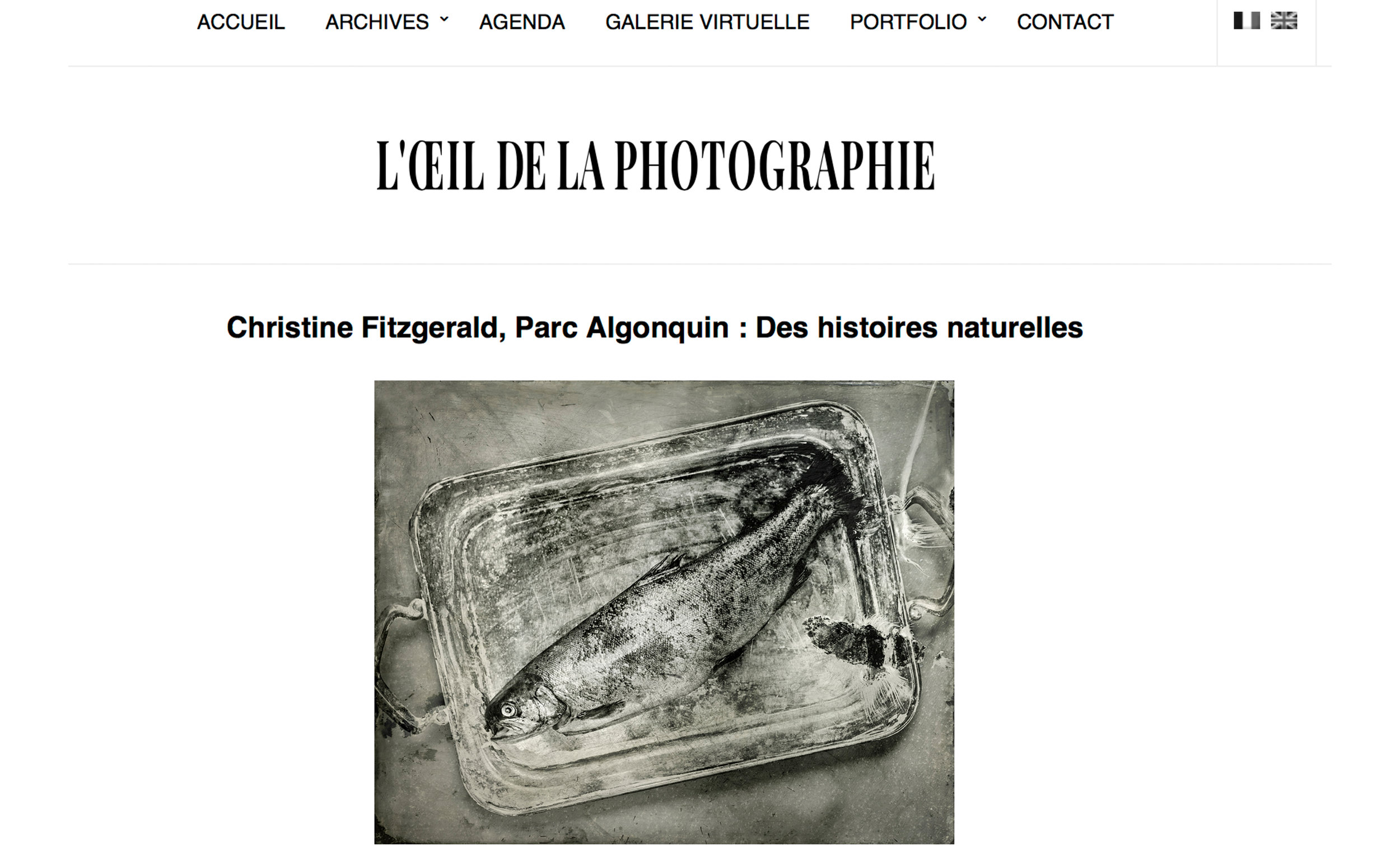 L'Oeil de la photographie, August 19, 2017 issue.