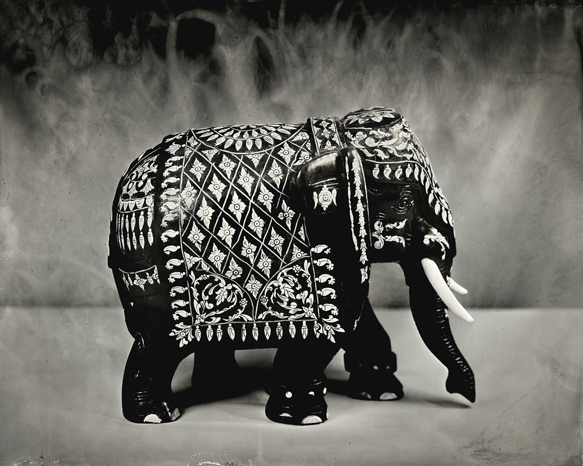 Ivory Inlaid Elephant, 2018