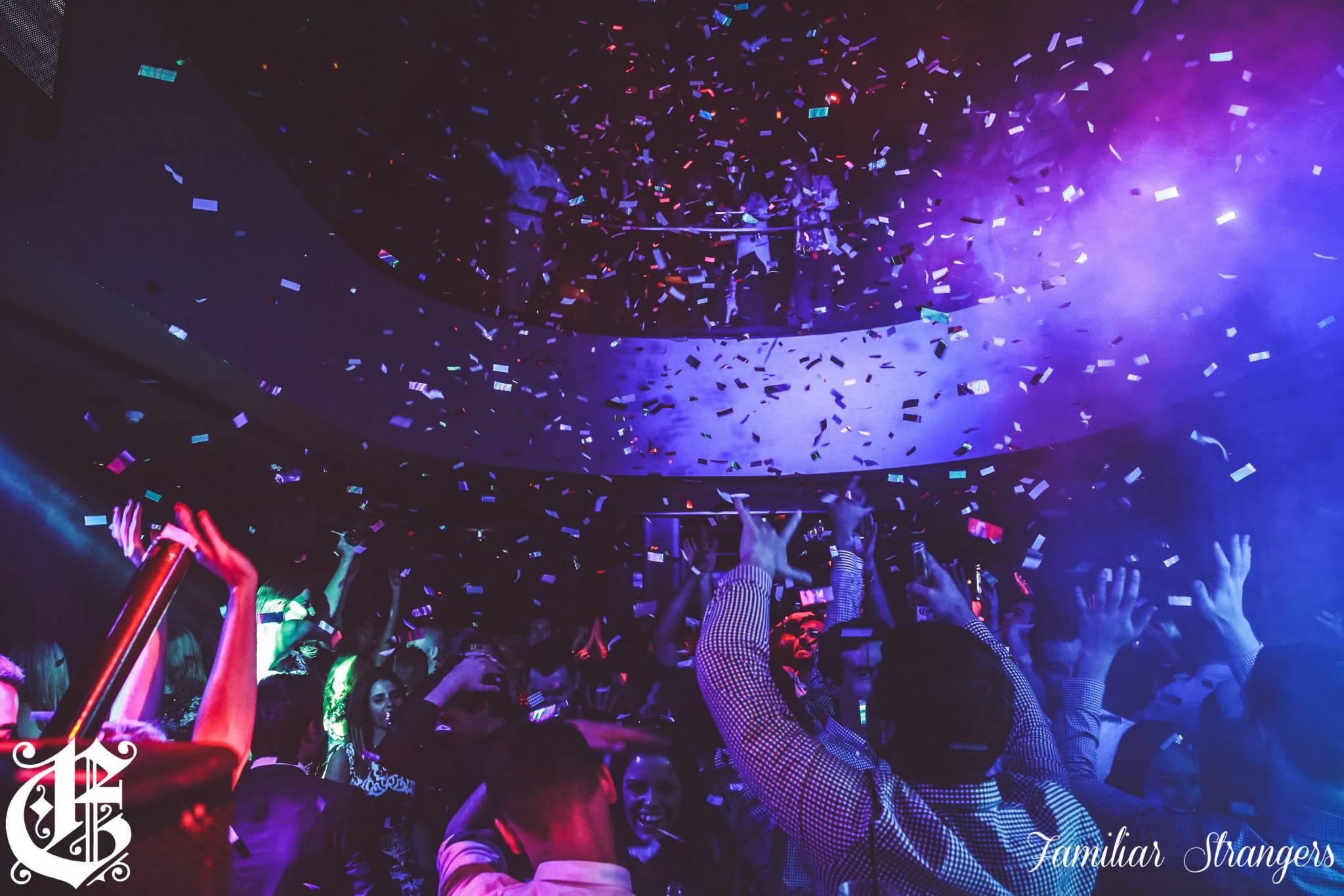 Confetti Cannons fired in Melbourne Club The Emerson - Blaso Pyrotechnics