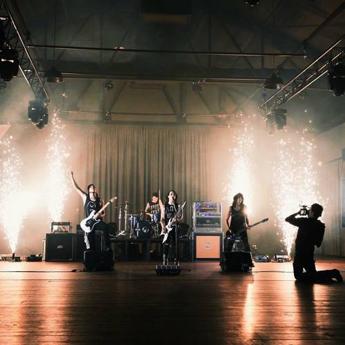 Indoor Fireworks Fountains for Music Video - Blaso Pyrotechnics