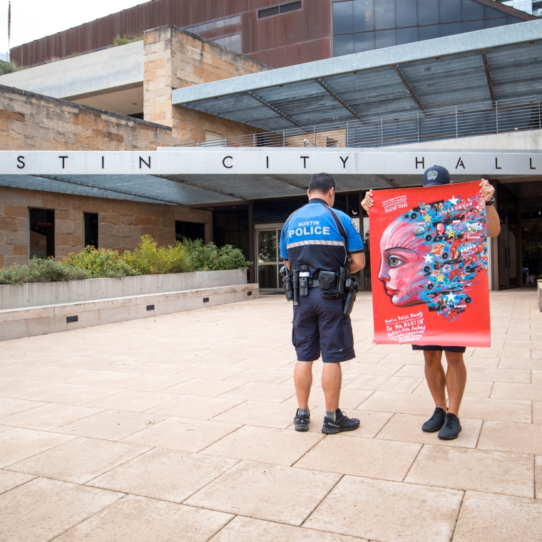 APFF 2019 red at Austin City Hall with Police - small.jpg