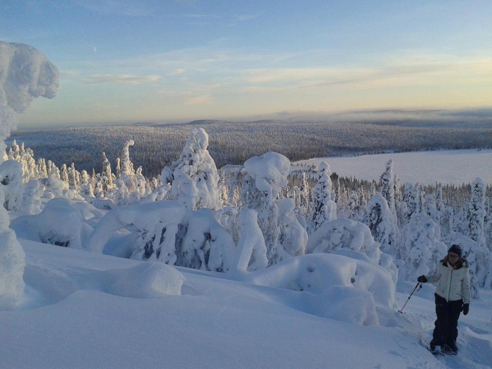 Schneeschuh safari Finnland