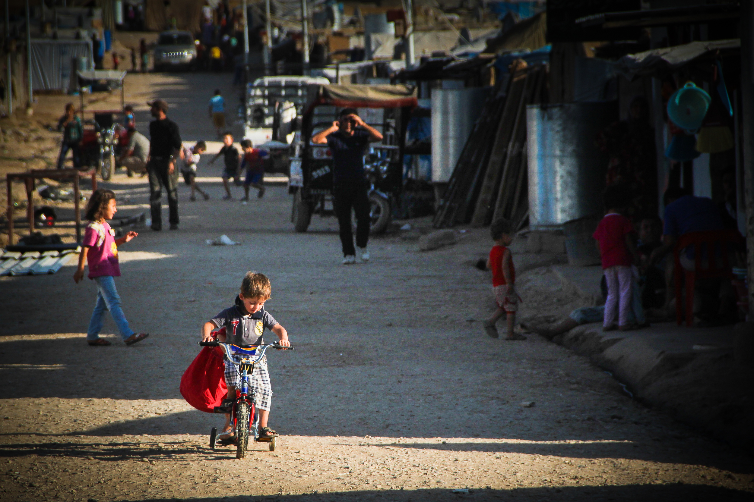 A child in Domiz refugee camp, Iraqi Kurdistan / For the Iraq mission of the International Organization for Migration