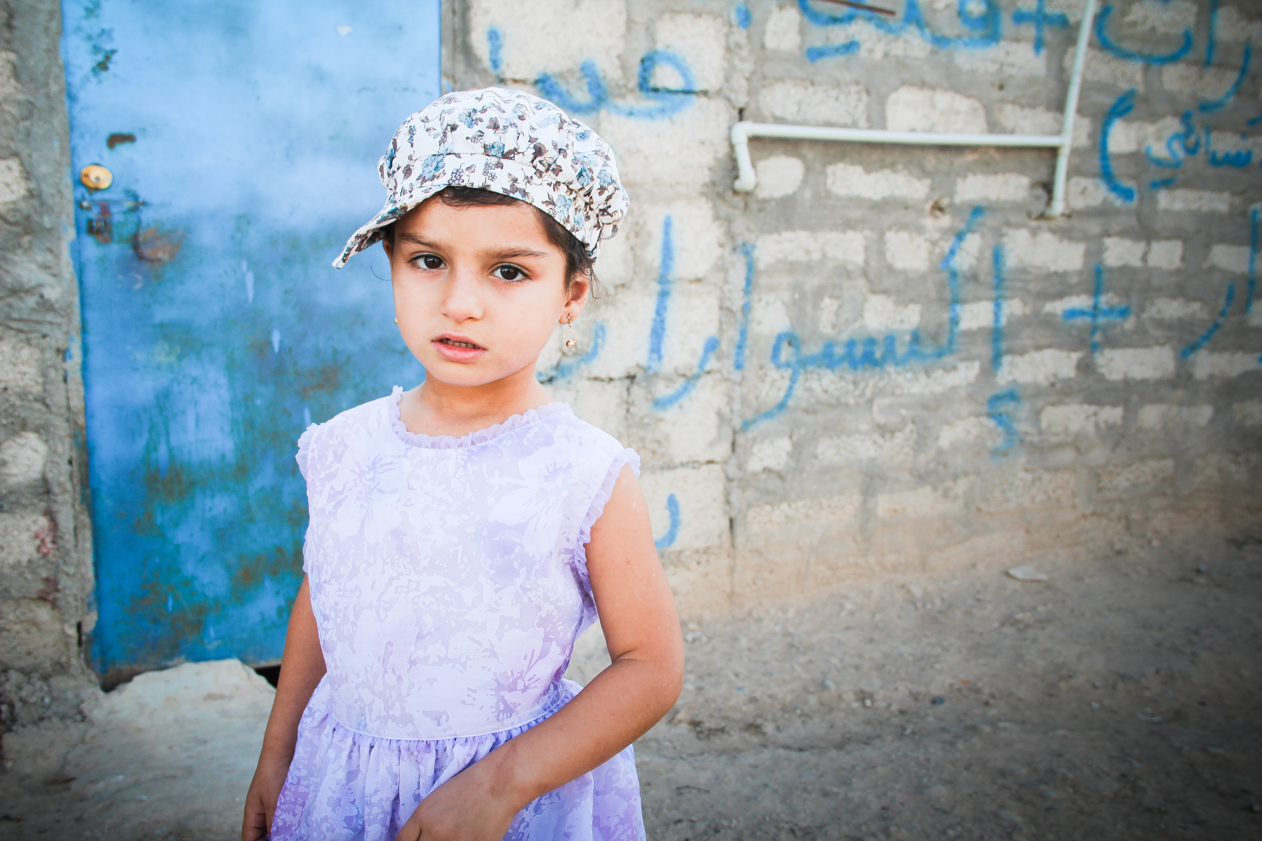 A young girl in Domiz refugee camp, Iraqi Kurdistan / For the Iraq mission of the International Organization for Migration