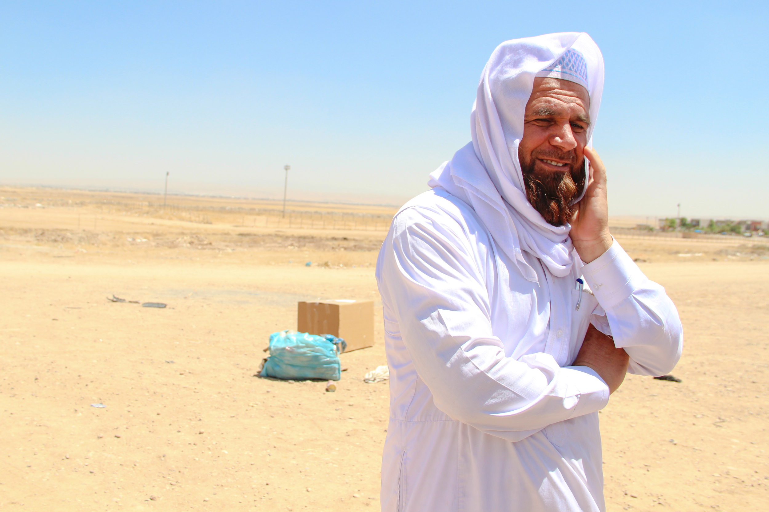 An imam who serves his local community in Erbil / For the Iraq mission of the International Organization for Migration