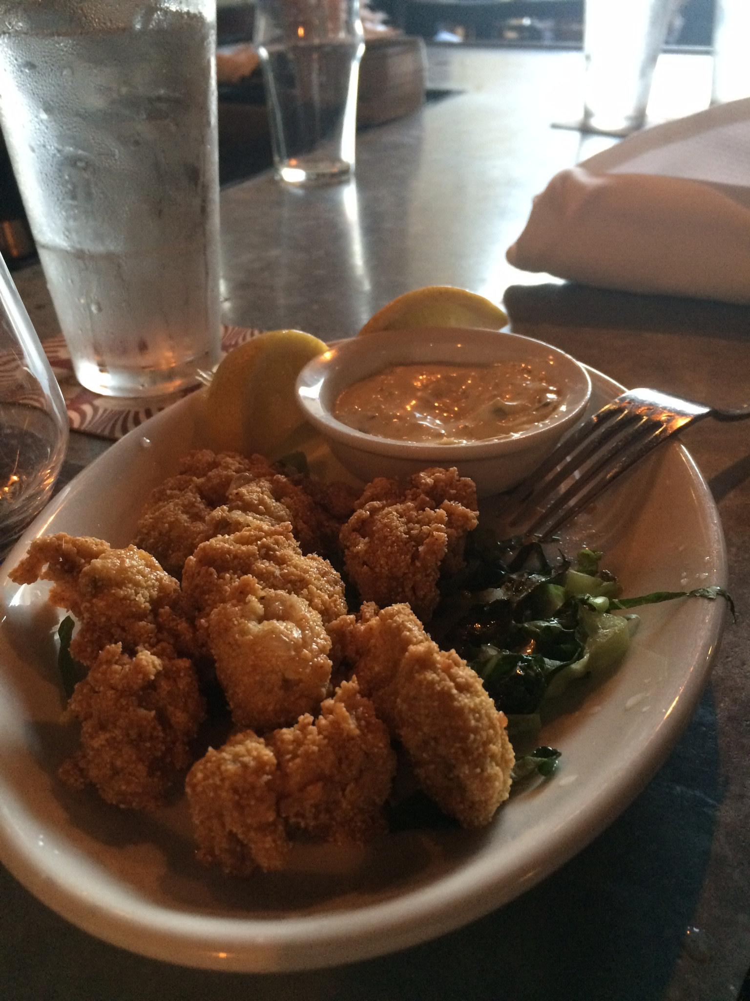 Fried oysters from Republic.