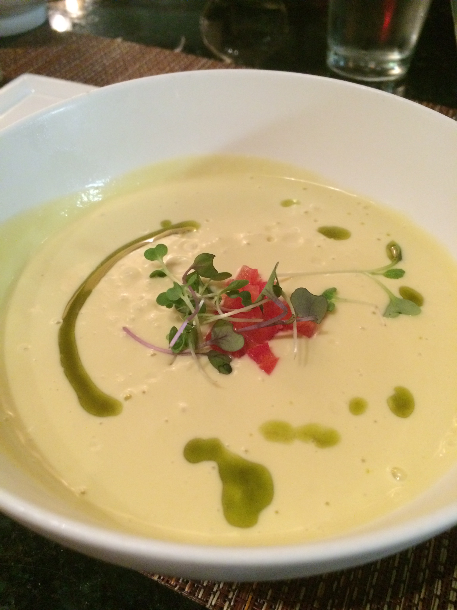 Corn bisque from Water & Wall.
