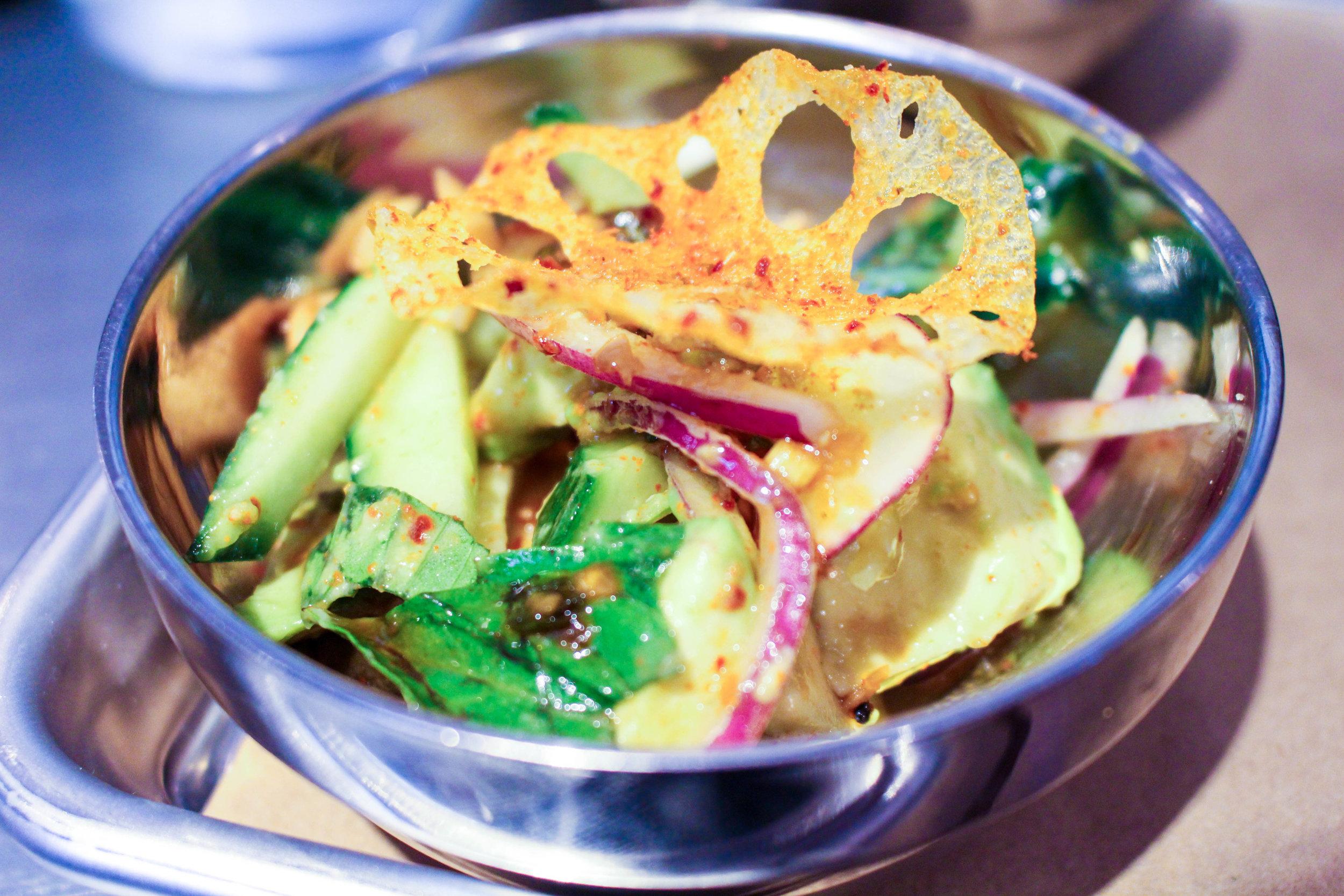 Half-a-cado salad