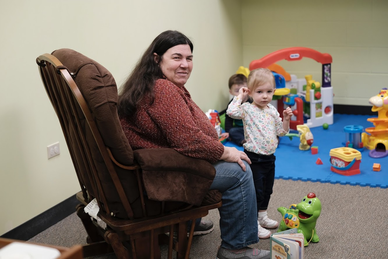 - Childcare is available for infants to children up through age 3.